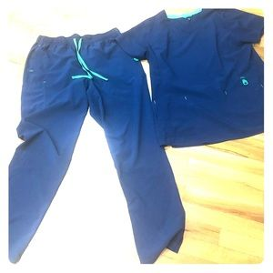Carhartt Navy uniform Scrub Set XL